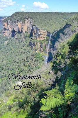 Photograph - Wentworth Falls by Carla Parris