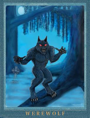Werewolf Art Print by Glenn Holbrook