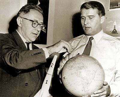 Wernher Von Braun Photograph - Wernher Von Braun And Willy Ley by Nasavrs