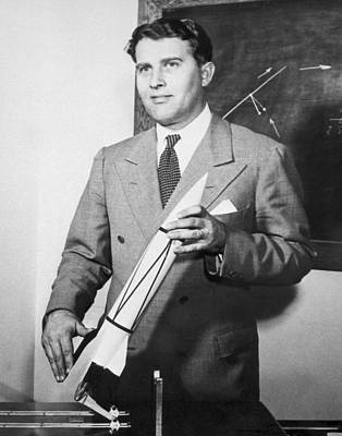 V2 Rocket Photograph - Wernher Von Braun, German Rocket Designer by Nasa
