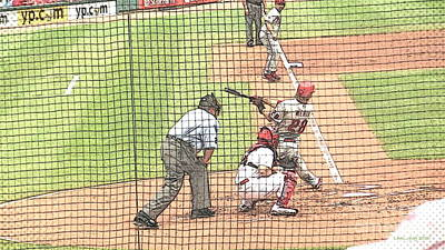 3rd Base Photograph - Werth Swings For Phillies by Lani PVG   Richmond