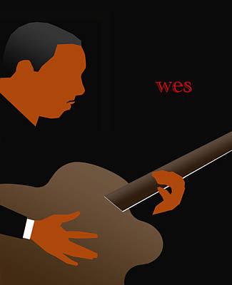 Guitar Digital Art - Wes Montgomery by Victor Bailey