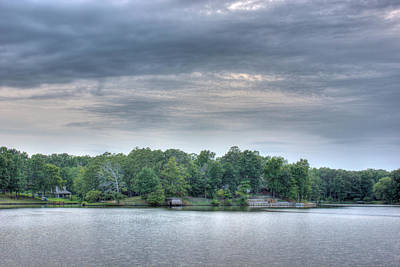 Photograph - West Bank Of Lake Sunset by Barry Jones