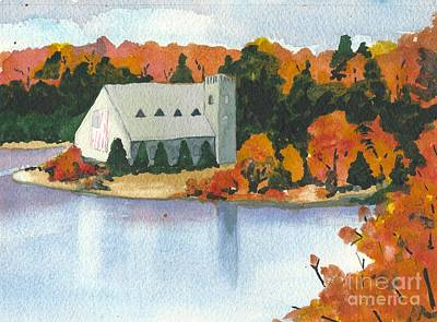 Painting - West Boylston Landmark Church by Lynn Babineau