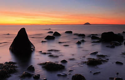 West Coast Sunset Art Print by Grant Glendinning
