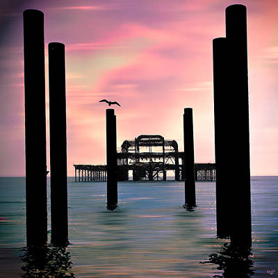 Photograph - West Pier Silhouette by Chris Lord