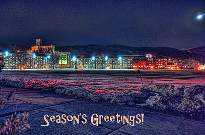 Photograph - West Point In Winter - Card by Dan McManus