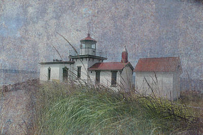 Fused Photograph - West Point Lighthouse - Seattle by Jeff Burgess