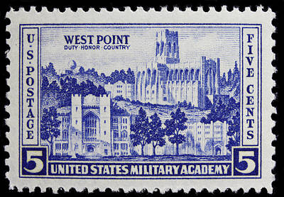 West Point Postage Stamp Art Print by James Hill