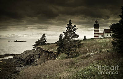 Lighthouse Photograph - West Quoddy Head Lighthouse by Alana Ranney