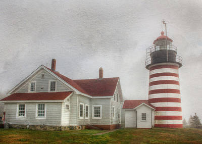 West Quoddy Head Lighthouse Photograph - West Quoddy Head Lighthouse by Lori Deiter
