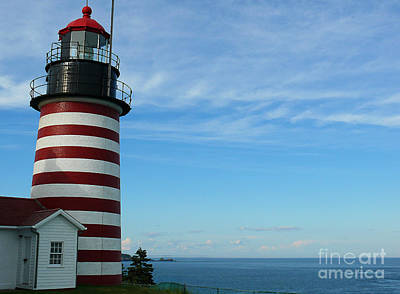 Art Print featuring the photograph West Quoddy Lighthouse by Jeanne  Woods