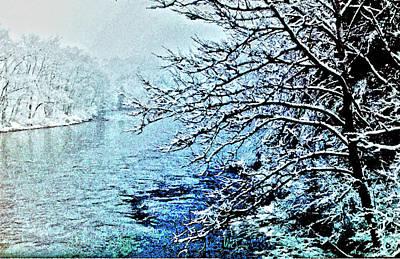 West River Snow Art Print