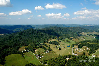 West Virginia Aerial  Art Print by Thomas R Fletcher