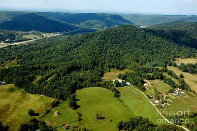 West Virginia Aerial View Art Print by Thomas R Fletcher