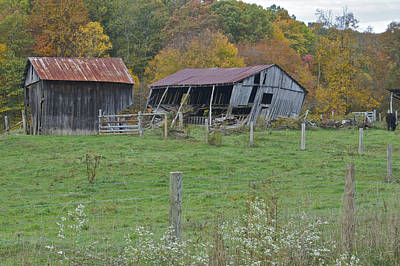 Virginia Ruins Photograph - West Virginia Barn 3211 by Michael Peychich