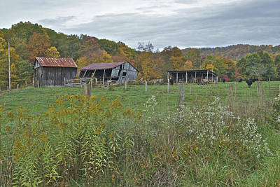 Virginia Ruins Photograph - West Virginia Barn 3212 by Michael Peychich