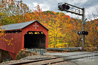 Photograph - West Virginia Covered Bridge - Carrollton by Kathleen K Parker
