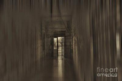 West Virginia Penitentiary Hallway Out Art Print by Dan Friend