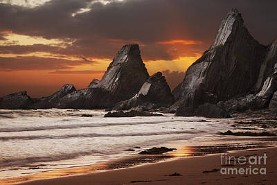 Westcombe Bay Art Print by Richard Garvey-Williams
