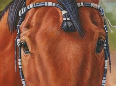 Western Braids Art Print by Kathleen  Hill