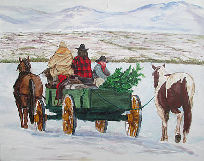 Painting - Western Christmas by Andrew Hench