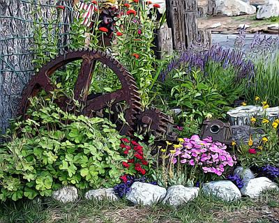 Western Garden Art Print by Anne Raczkowski