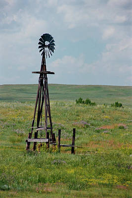 Photograph - Western Kansas Windmill by Michael Flood