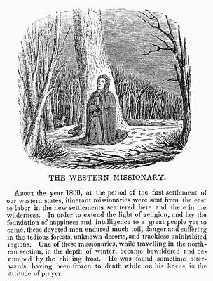 Western Missionary Art Print by Granger