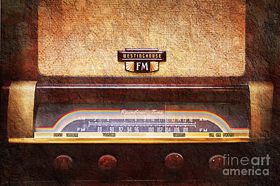 Photograph - Westinghouse Fm Rainbow Tone Radio by Andee Design