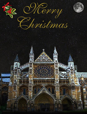 Mixed Media - Westminster Abbey Merry Christmas by Eric Kempson