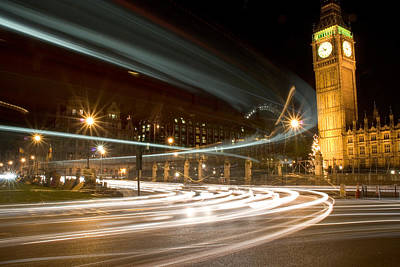 City Streets Photograph - Westminster Lights by Copyright Michael Spry