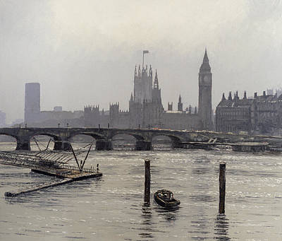 Shimmering Painting - Westminster by Tom Young