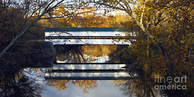 Westport Covered Bridge - D007831a Art Print by Daniel Dempster