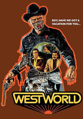 Westworld, Yul Brynner, 1973 Art Print