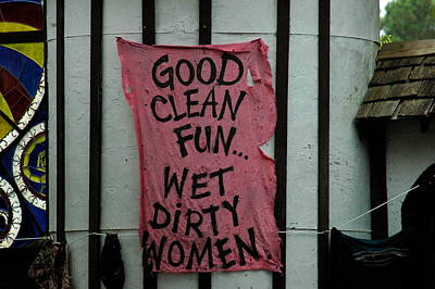 Photograph - Wet Dirty Women by Teresa Blanton