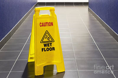 Wet Floor Sign Art Print by Andersen Ross