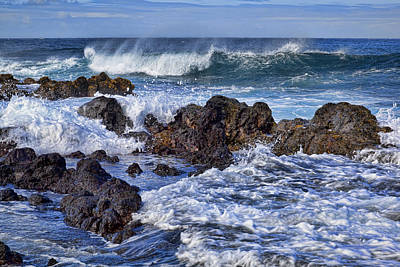 Photograph - Wet Lava Rocks by Kelley King