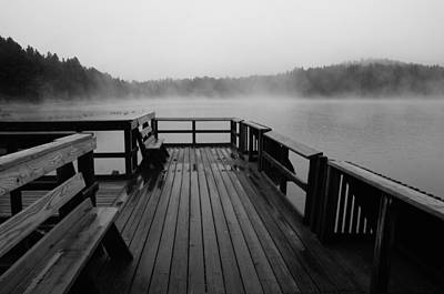 Photograph - Wet Raining Fog Afternoon by Wilma  Birdwell
