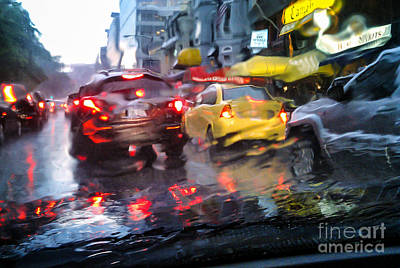Wet Ride Home Art Print by Jim Moore