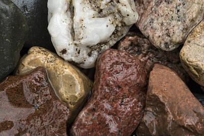 Canon Digital Art - Wet Rocks by Susan Stone
