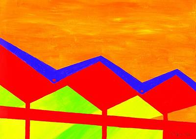 Wexler Folded Roof Four Art Print by Randall Weidner
