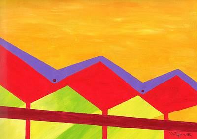 Wexler Folded Roof Three Original by Randall Weidner