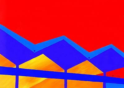 Wexler Folded Roof Two Art Print by Randall Weidner