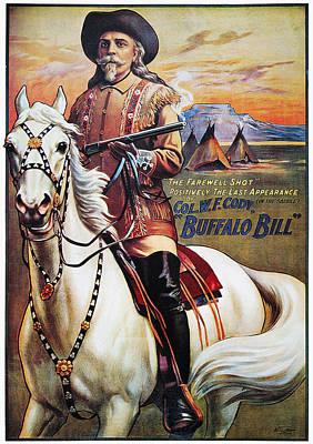 W.f. Cody Poster, 1910 Art Print