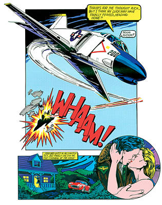 Photograph - Whaam And Kiss by John Reilly