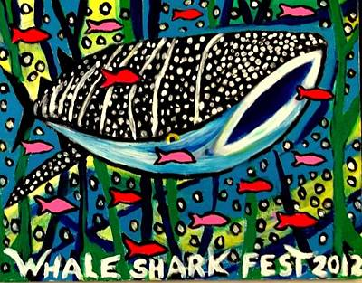 Painting - Whale Shark Season On Isla by Ted Hebbler