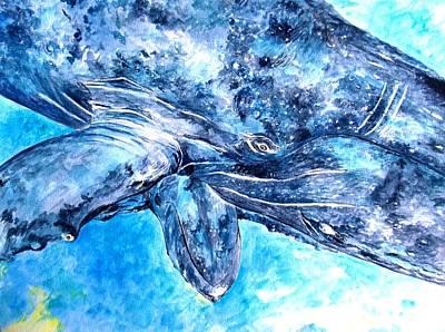 Liberation Painting - Whales by Tamara Tavernier