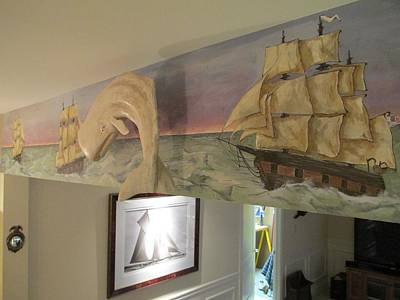Painting - Whaling Mural 2 by Andrew Hench