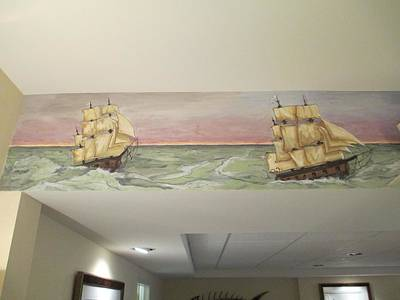 Painting - Whaling Mural 3 by Andrew Hench